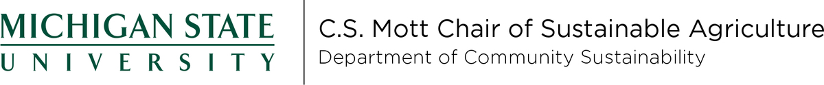 Michigan State C.S. Mott Chair of Sustainable Agriculture Logo